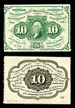 Ten-cent first-issue fractional note