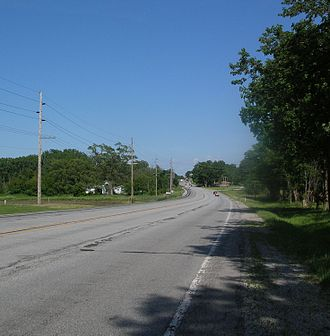 U.S. Route 20 in Indiana - U.S. 20 approaching Springville from the west.