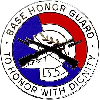 United States Air Force Honor Guard Badge - Air Force Base Honor Guard Badge