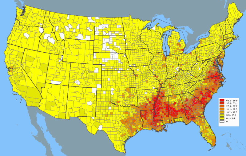 Best United States Images On Pinterest Ancestry Genealogy - Us map with population density