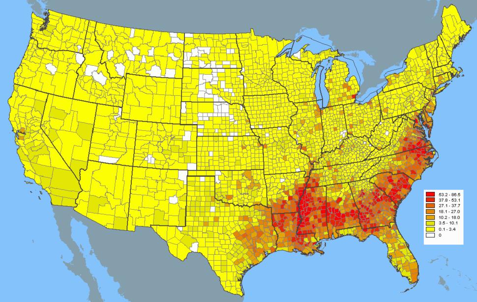 USA 2000 black density