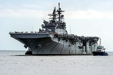 USS America (LHA-6) off Pascagoula in 2013