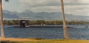 USS Aspro SSN-648 at Pearl Harbor circa 1980