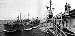 USS Caliente (AO-53) refuels USS Hancock (CVA-19), in 1962.jpg