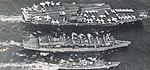 USS Camden (AOE-2) replenishes USS Constellation (CVA-64) and USS Berkeley (DDG-15) in 1974.jpg