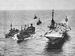 USS Canisteo (AO-99) refuels USS Randolph (CVA-15) and USS Robert H. McCard (DD-822), circa in 1957.jpg