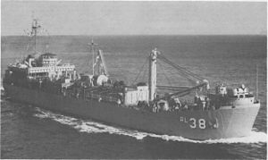 USS Krishna (ARL-38) - USS Krishna (ARL-38) at sea, date and location unknown