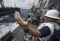 USS Mason conducts a replenishment-at-sea. (10982030724).jpg