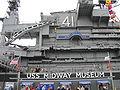 USS Midway (CV-41) island starboard side 4.JPG