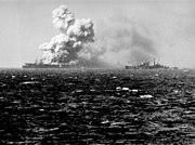 USS Princeton (CVL-23) 1944 10 24 1523explosion