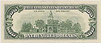 US $100 1990 Federal Reserve Note Reverse.jpg