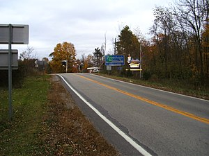 U.S. Route 119 in Pennsylvania - U.S. Route 119 as it enters Pennsylvania just south of Point Marion in Fayette County.