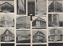 The twelve Reserve Banks buildings in 1936