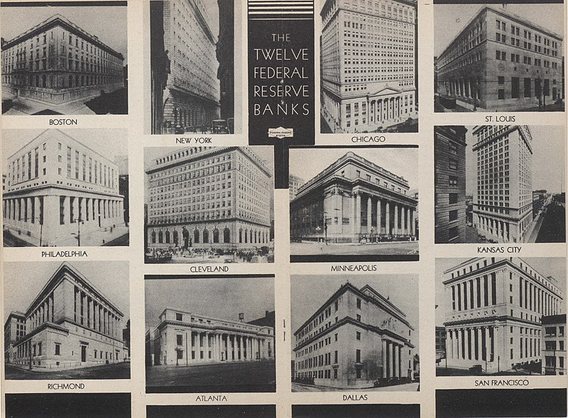US Federal Reserve Banks collage 1936.jpg