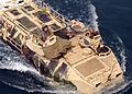US Navy 040712-N-6616W-008 An Amphibious assault vehicle (AAV) approaches the well deck aboard the amphibious assault ship USS Saipan (LHA 2) while conducting amphibious landing drills.jpg