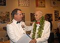 US Navy 041106-N-4995T-086 Commander, U.S. Pacific Command, Adm. Thomas B. Fargo, speaks with Retired Rear Adm. Joe Vasey at the USS Bowfin Submarine Museum in Pearl Harbor, Hawaii.jpg
