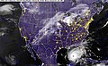 US Navy 050922-N-0000X-001 GOES-12 Satellite infrared image provided by the U.S. Naval Research Laboratory, Monterey, Calif., showing the status of Hurricane Rita at 3-30 am EST.jpg