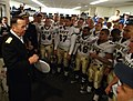 US Navy 051203-N-2383B-940 Chief of Naval Operations Adm. Mike Mullen, congratulates the Navy team following a 42-23 win over the Black Knights of Army.jpg