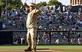 US Navy 070704-N-2420K-006 Surrounded by enthusiastic cheers from the crowd, Hospital Corpsman 3rd Class Nathaniel R. Leoncio throws one of the games opening pitches prior to game start between the Florida Marlins and the San D.jpg