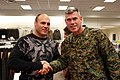 US Navy 080103-M-5276L-007 Col. Christopher E. O'Conner, CO of the Marine Corps Air Station (MCAS) Miramar, greets Randy.jpg