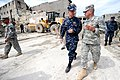 US Navy 100226-N-6278K-494 Chairman of the Joint Chiefs of Staff Adm. Mike Mullen, left, speaks with Lt. Gen. Ken Keen during a visit to Port-au-Prince, Haiti.jpg