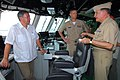 US Navy 100320-N-7058E-100 Adm. Guillermo Barrera talks about the bridge design of USS Freedom (LCS 1) with Colombian Defense Minister Gabriel Silva and Cmdr. Randy Garner.jpg
