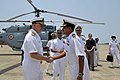 US Navy 100414-N-8273J-169 Chief of Naval Operations (CNO) Adm. Gary Roughead thanks senior leaders of the Indian Navy while visiting with Sailors at INS Hansa in Goa, India.jpg