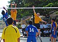 US Navy 100812-N-3589B-198 Sailors assigned to the guided-missile destroyer USS John S. McCain (DDG 56) play volleyball against a team from the Vietnam People's Navy.jpg