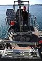 US Navy 120130-N-LP801-033 Sailors assigned to the amphibious dock landing ship USS Germantown (LSD 42) load the ship's RIM-116 Rolling Airframe Mi.jpg