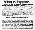 Uetersen Erklärung des Kriegszustandes 1914.jpg