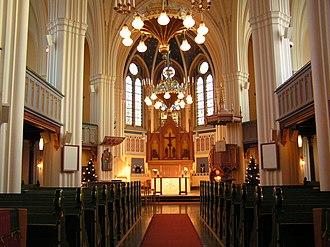 Umeå City Church - The aisle in Umeå City Church