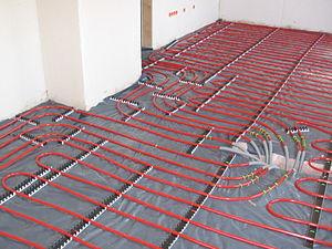 Underfloor heating - Image: Underfloor heating pipes