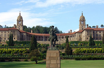 Union Buildings in Pretoria, seat of the executive Uniegebou.jpg