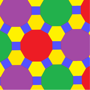 Truncated trihexagonal tiling - Image: Uniform polyhedron 63 t 012c
