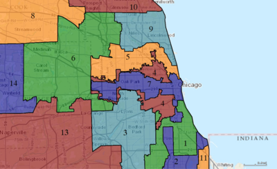 United States Congressional Districts in Illinois (metro highlight), 1993 – 2002.tif