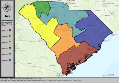 South Carolinas Congressional Districts Wikipedia - Us State Legislature Map