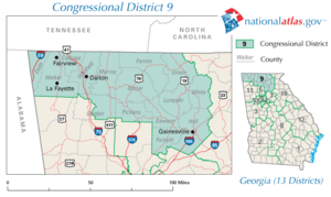 United States House of Representatives, Georgia District 09, 110th Congress.png