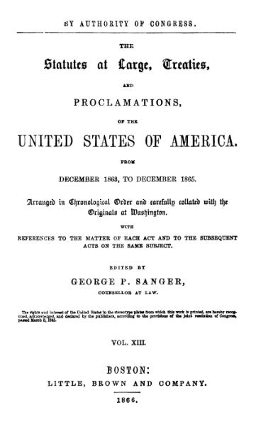 File:United States Statutes at Large Volume 13.djvu