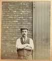 Unknown Edwardian man in working cloths - carpenter, blacksmith? (6615540121).jpg