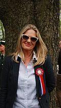 Unni Straume film director celebrating 17 mai (Norwegian Constitution Day) in slottsparken in Oslo. 2013-May-17.JPG