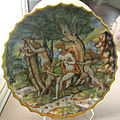 Urbino, bottega dei patanazzi, adamo ed eva, xvii sec..JPG