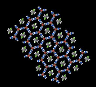 Clathrate compound - Image: Urea&1,6 C6Cl 2