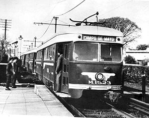 Urquiza Line - Trams were acquired from Pacific Electric in the 1950s.