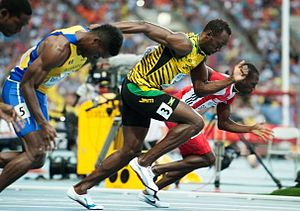 2013 World Championships in Athletics - Usain Bolt of Jamaica, winner of the men's 100 metres, here during the heats.