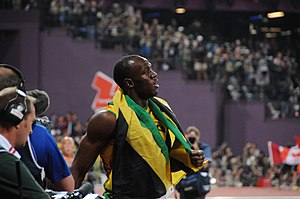 Jamaica at the 2012 Summer Olympics - Usain Bolt defended his Olympic titles in both the 100 and 200 metres.