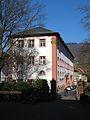 V. Heidelberg Gebäude des Barock Altstadt Campus Blick vom Portal des Carolinum auf Philosophisches Seminar und Slawisches Seminar in der Schulgasse.jpg