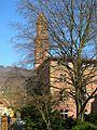 V. Heidelberg Gebäude des Barock Altstadt Campus Blick vom Portal des Carolinum auf das Romanische Seminar Schulgasse Ecke Seminarstraße.jpg