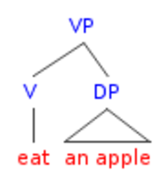 Head-directionality parameter - English VP structure