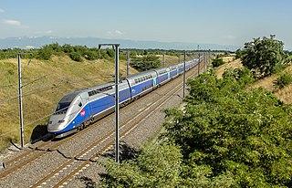 LGV Méditerranée high-speed railway line in France