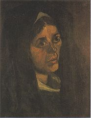 Head of a Peasant Woman with Green Shawl